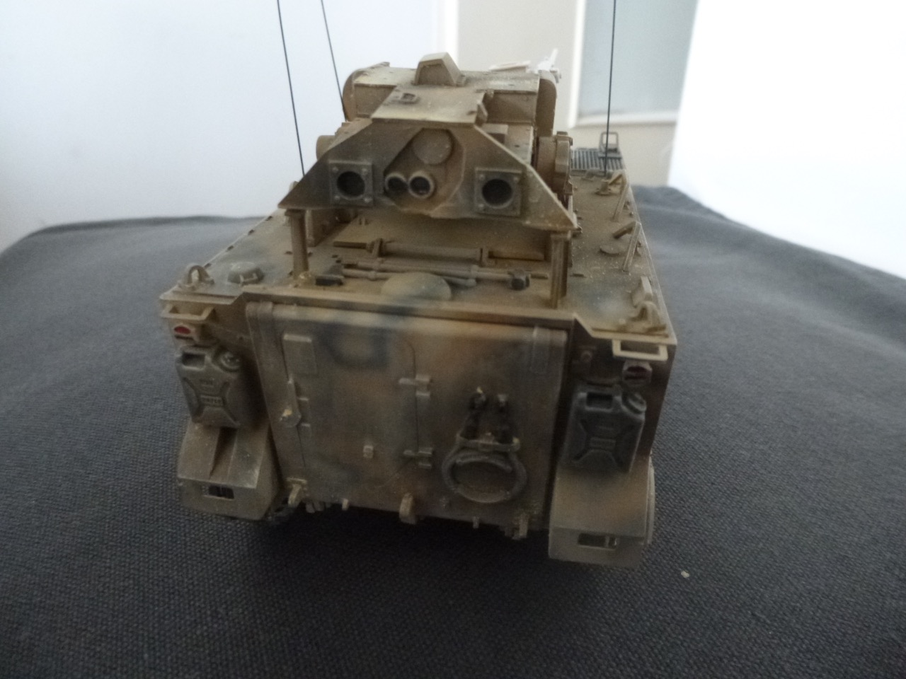 M113 / M109 Tow, une conversion en résine Verlinden au 1/35, base Tamiya 170123124121315485