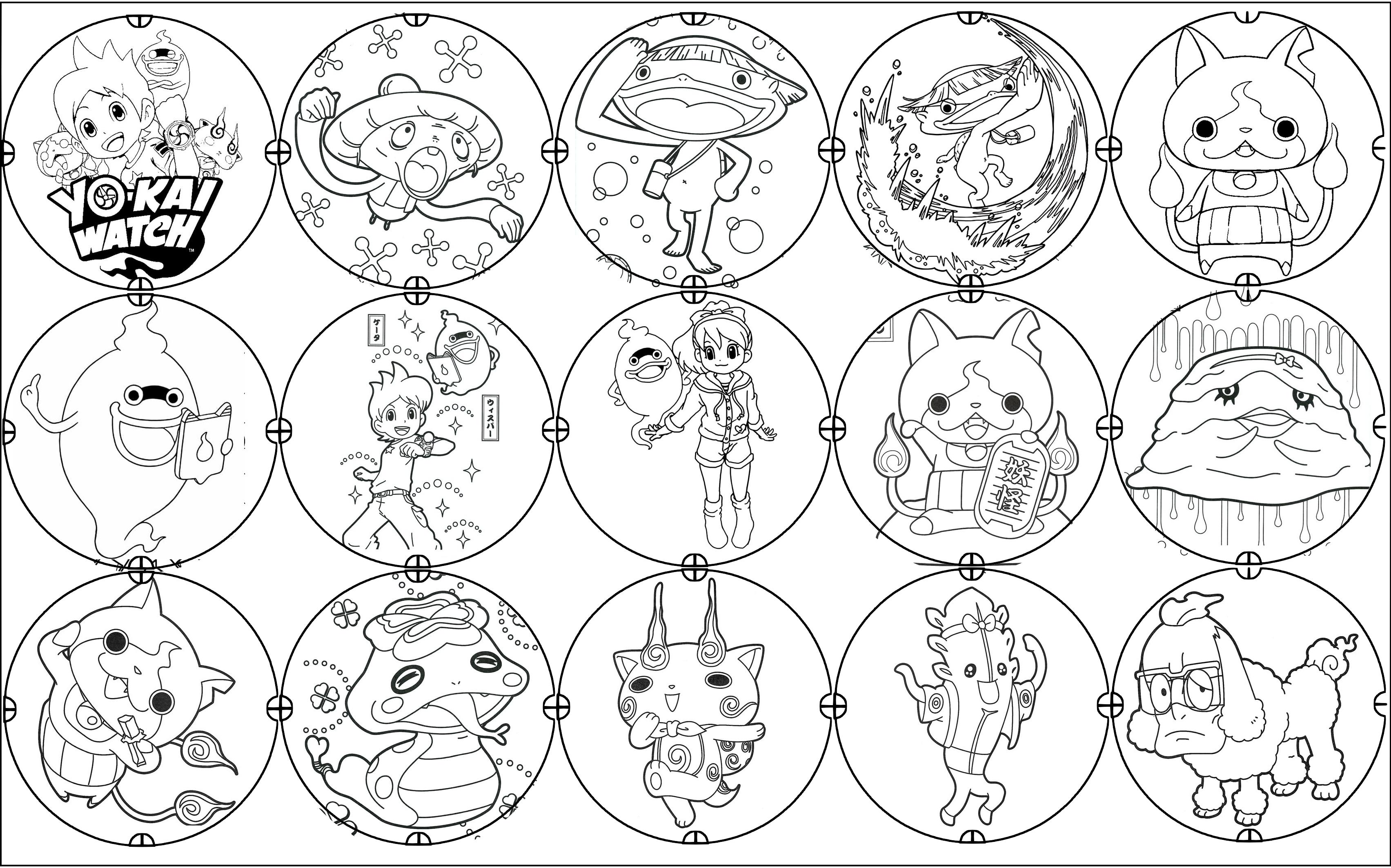 Coloriage De Yo Kai Watch A Imprimer Gratuit Coloriage Yo Kai