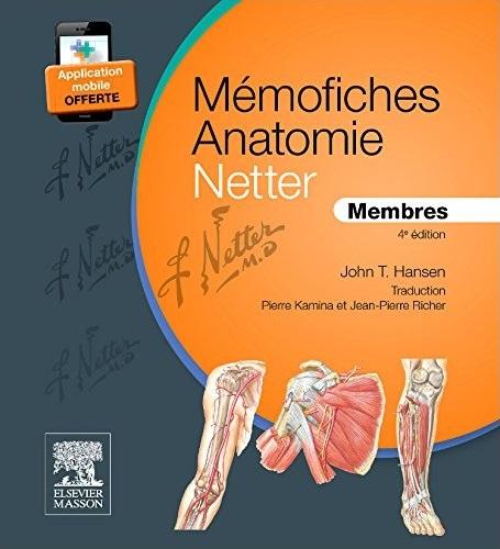 télécharger Mémofiches Anatomie Netter - Membres 4e édition