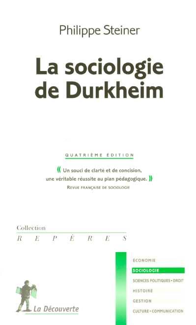 télécharger La sociologie de Durkheim – Philippe Steiner