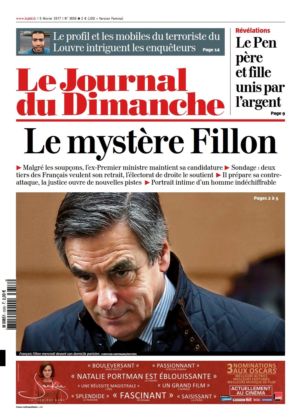 Le Journal du Dimanche n°3656 du 5 Février 2017