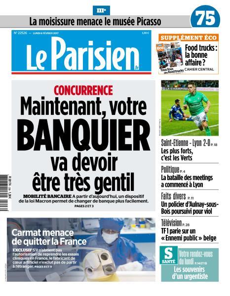 Le Parisien du Lundi 6 Février 2017