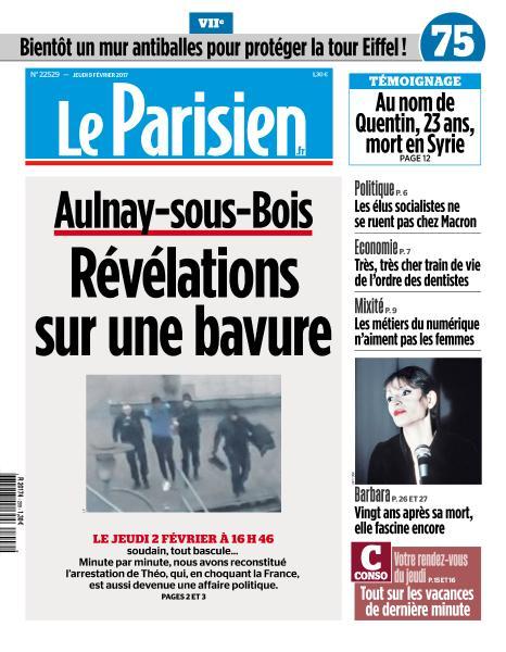 Le Parisien du Jeudi 9 Février 2017