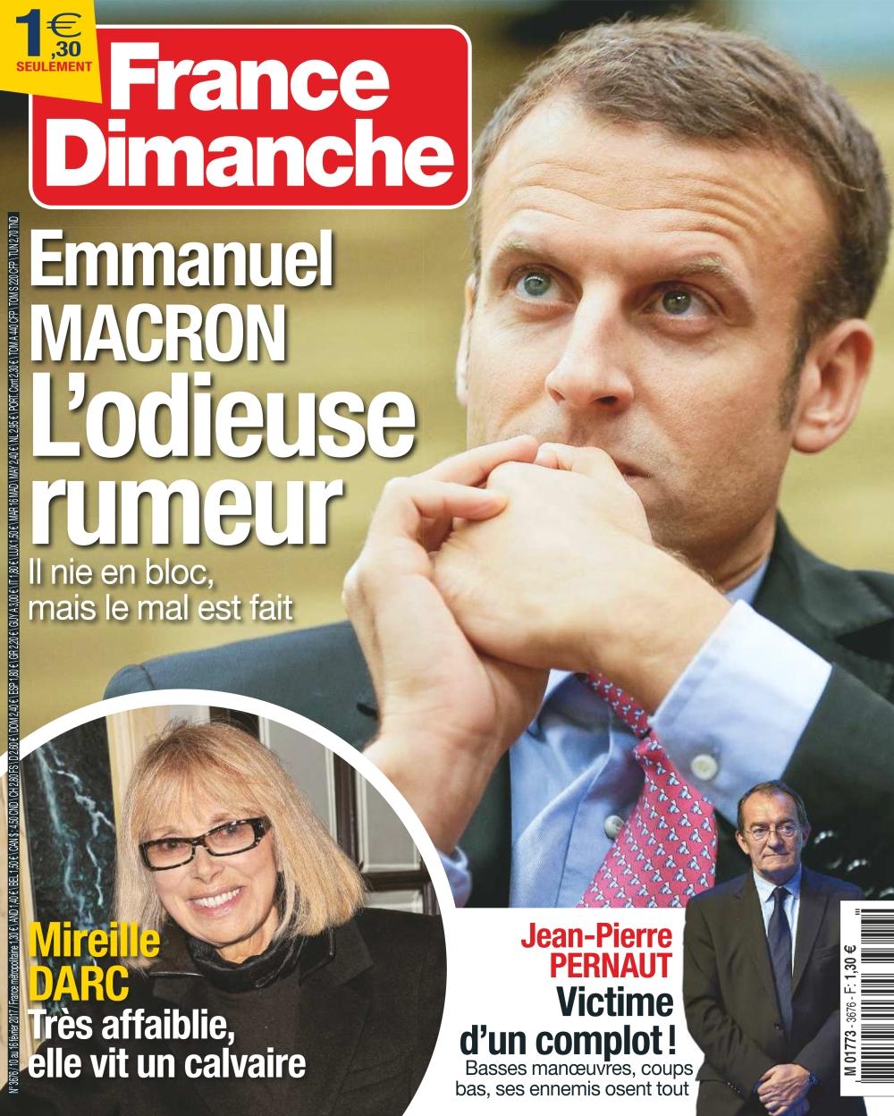France Dimanche N°3676 - 10 au 16 Février 2017