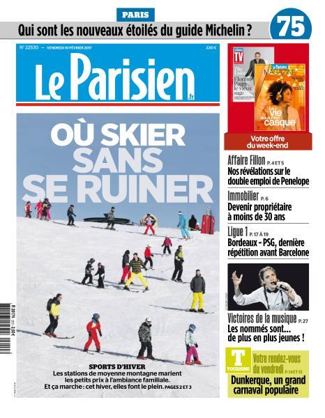 Le Parisien du Vendredi 10 Février 2017