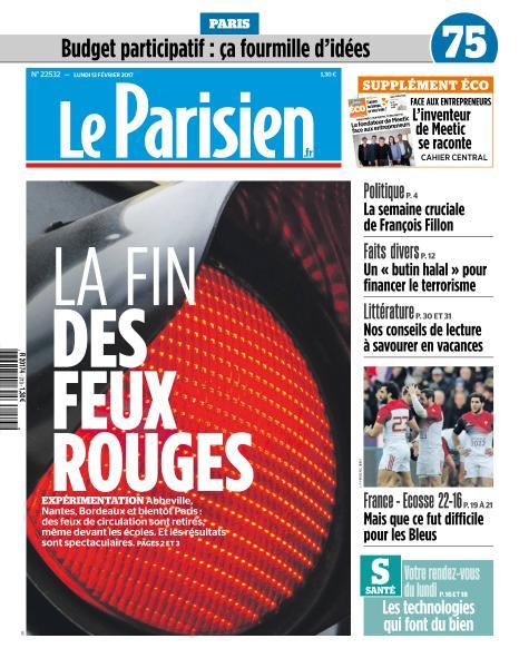 Le Parisien du Lundi 13 Février 2017