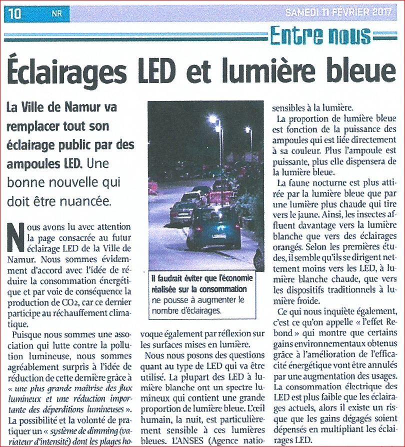 Eclairages LED et lumière bleu (article de presse) 170213085359426990