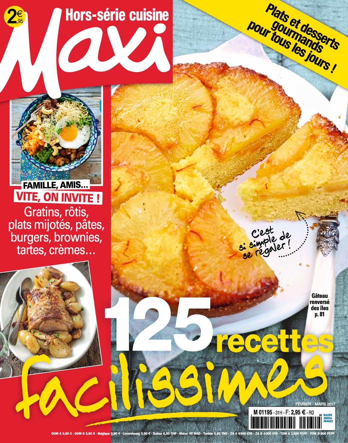 Maxi Hors-Série Cuisine N°31 - Février/Mars 2017