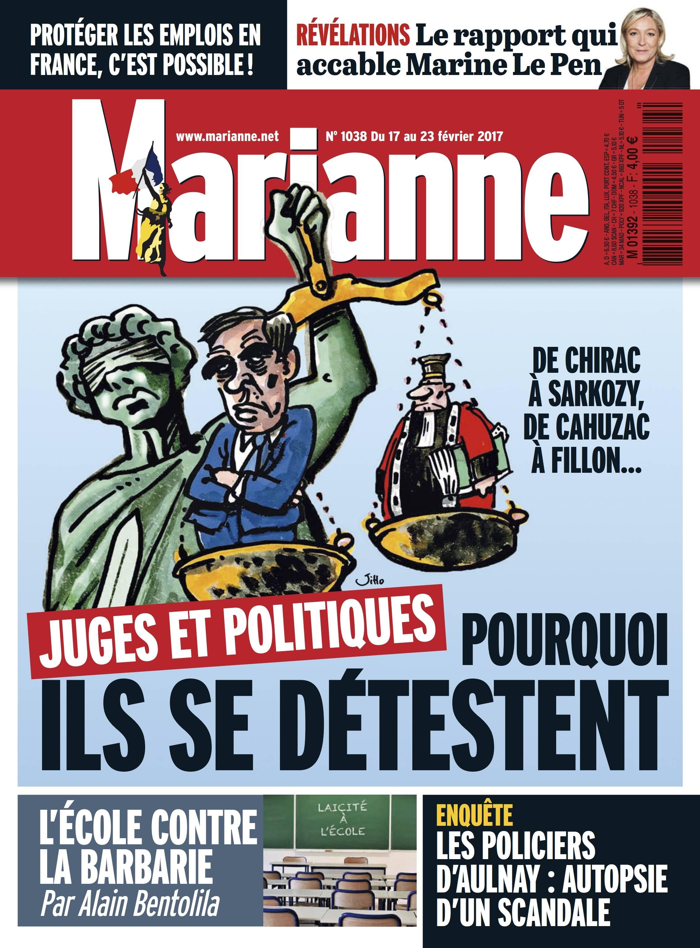 Marianne N°1038 - 17 au 23 Février 2017