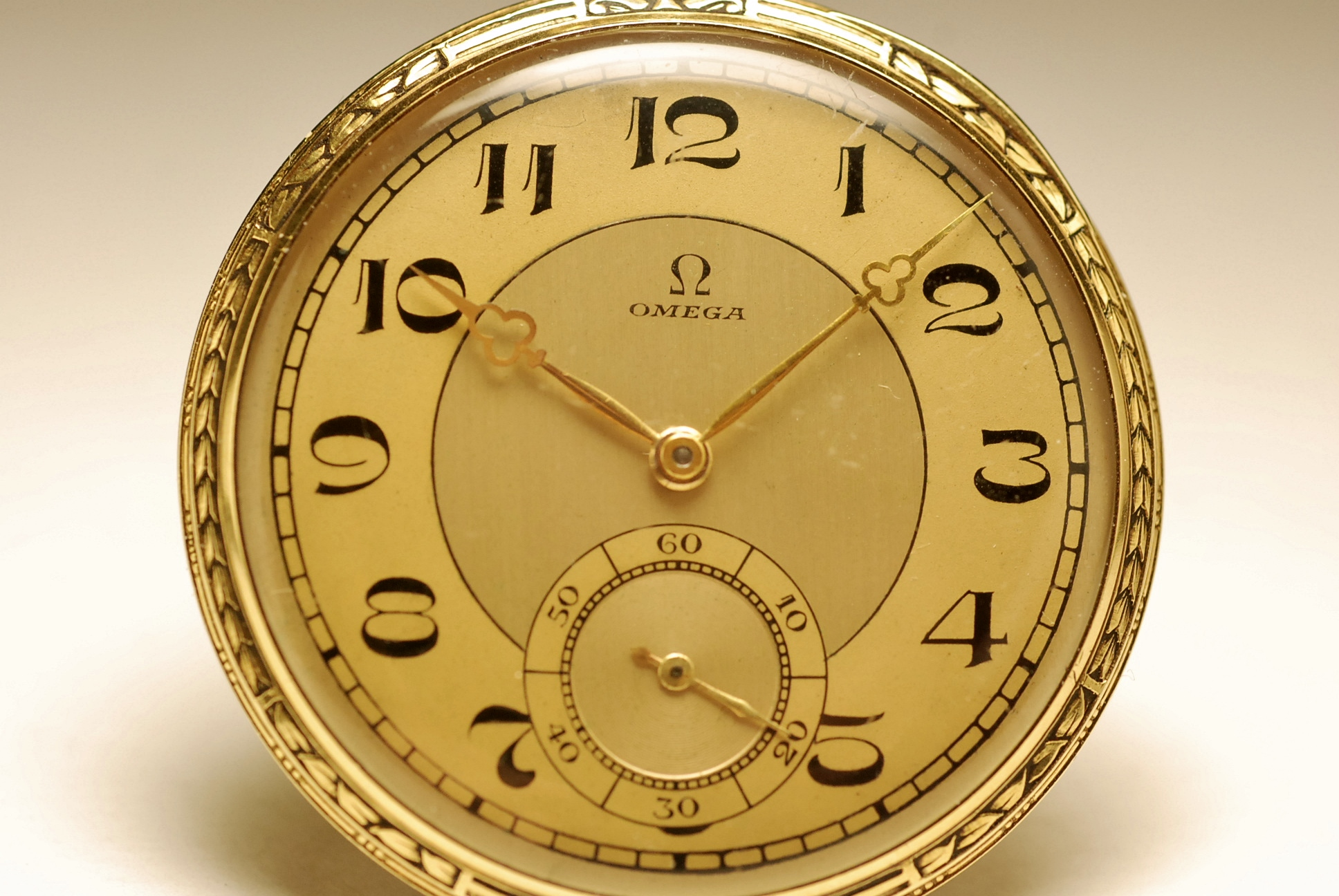 montre ancienne gousset omega chronometre en or 18k 1920 solid gold pocket watch ebay. Black Bedroom Furniture Sets. Home Design Ideas
