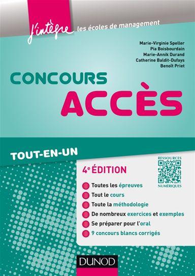 télécharger Concours Accès 4e Edition ( avec complément web)