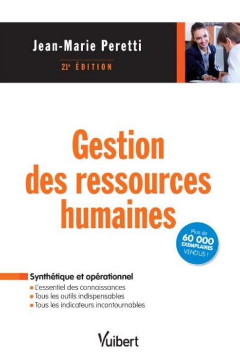 Gestion des ressources humaines Vuibert 21e Edition