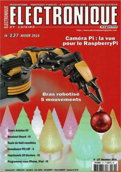 Electronique & loisirs N°137 - Caméra Pi : la vue pour le RaspberryPi