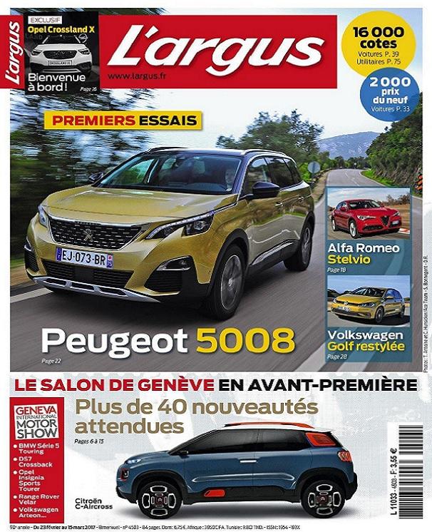 télécharger L'Argus N°4503 Du 23 Février au 15 Mars 2017