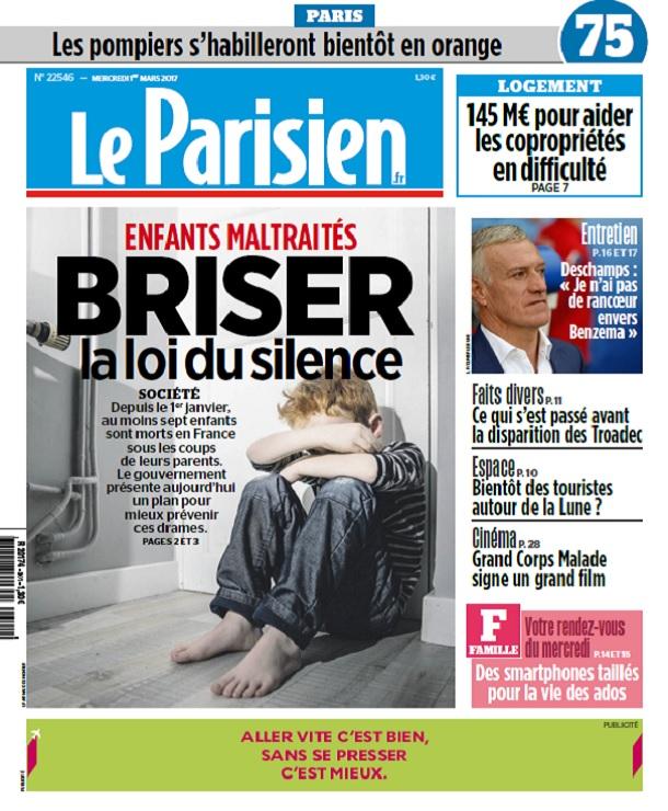 télécharger Le Parisien + Journal De Paris Du Mercredi 1er Mars 2017