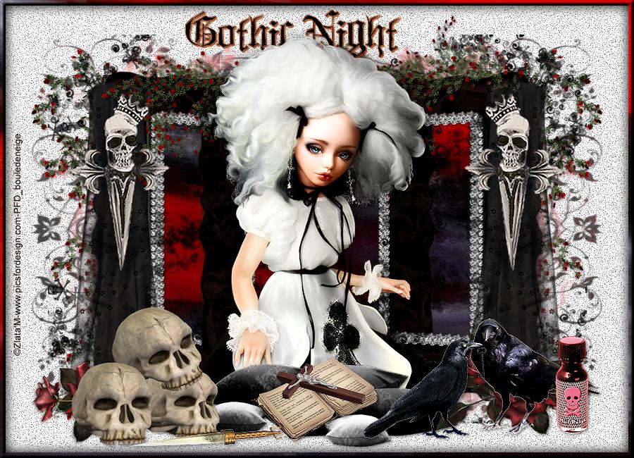 tuto gothic night non animé