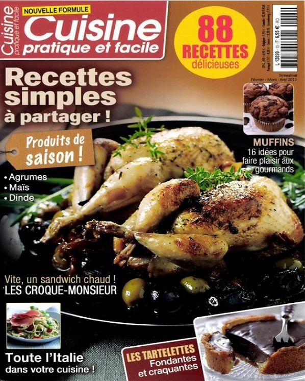 télécharger Cuisine Pratique et Facile N°15 - Recettes Simples à Partager