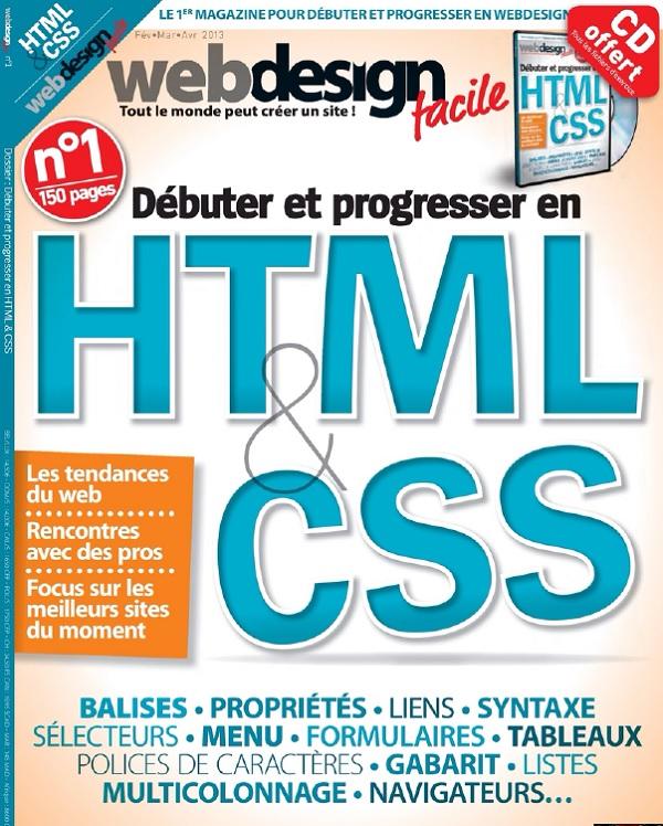 télécharger Web Design Facile N°1 - Débuter et progresser avec HTML et CSS