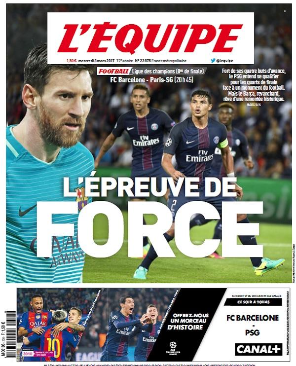 télécharger L'Equipe Du Mercredi 8 Mars 2017