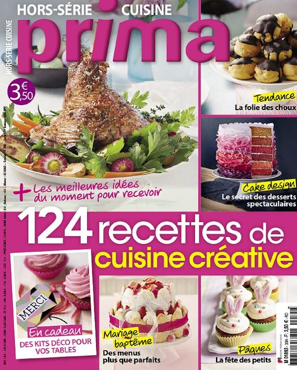 télécharger Prima Hors Série Cuisine N°35 - 124 Recettes De Cuisine Créative