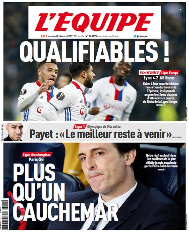télécharger L'Equipe Du Vendredi 10 Mars 2017