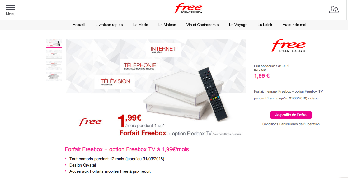 Forfait free internet box a le bar de tmax mania tmax mania - Suivi commande vente privee ...