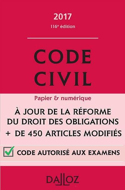 télécharger Code Civil Français 2017 Dalloz [Complet]