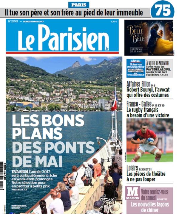 Le Parisien + Journal De Paris Du Samedi 18 Mars 2017