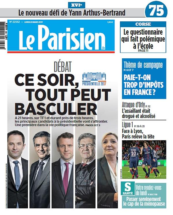télécharger Le Parisien + Le Journal De Paris Du Lundi 20 Mars 2017