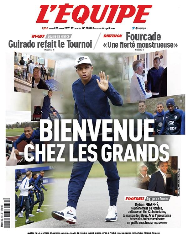 télécharger L'Equipe Du Mardi 21 Mars 2017