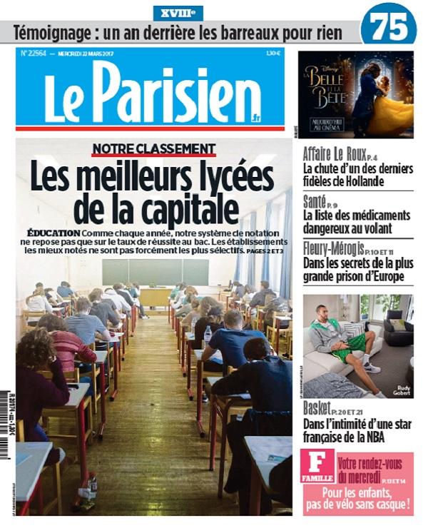 télécharger Le Parisien + Journal De Paris Du Mercredi 22 Mars 2017