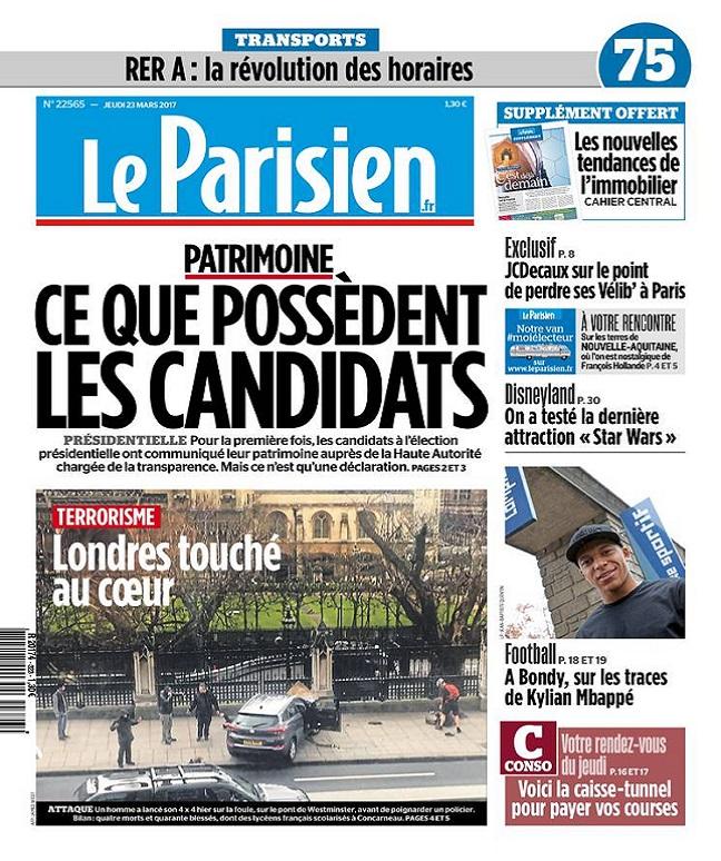 télécharger Le Parisien + Journal De Paris Du Jeudi 23 Mars 2017