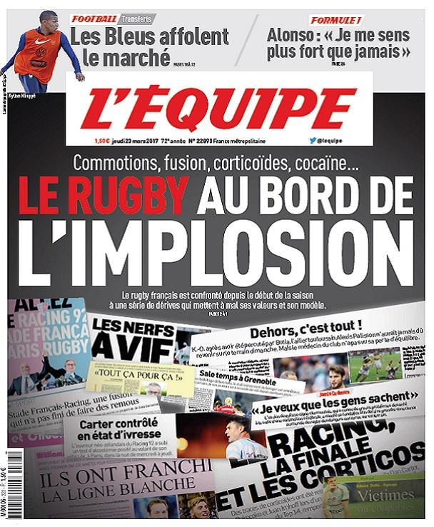 télécharger L'Equipe Du Jeudi 23 Mars 2017