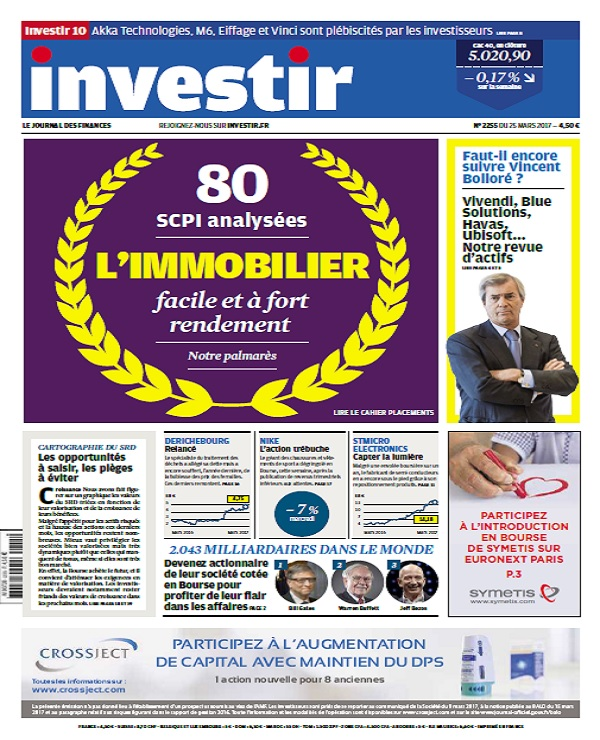 télécharger Investir N°2255 Du 25 Mars 2017