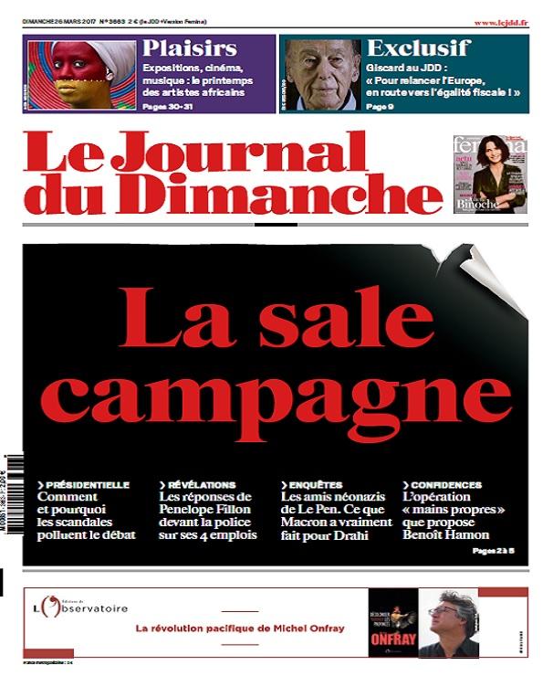 télécharger Le Journal Du Dimanche N°3663 Du 26 Mars 2017