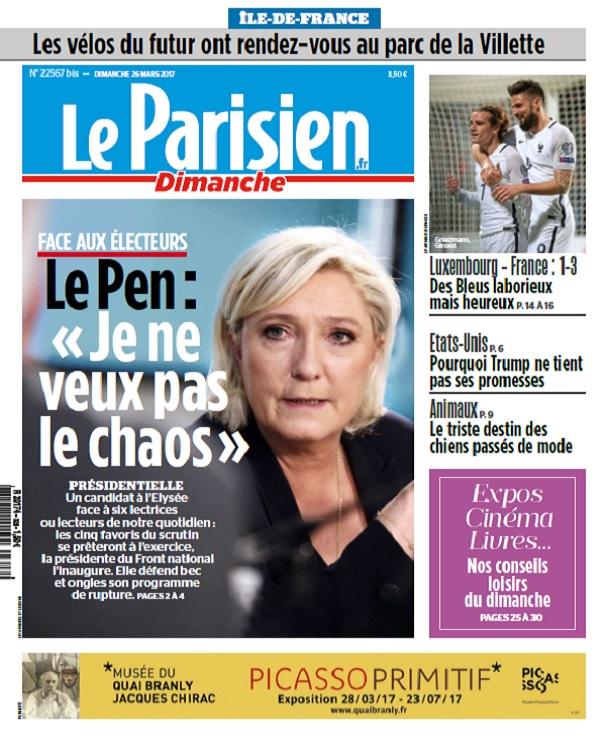 télécharger Le Parisien Dimanche + Supplément Ile De France Du 26 Mars 2017