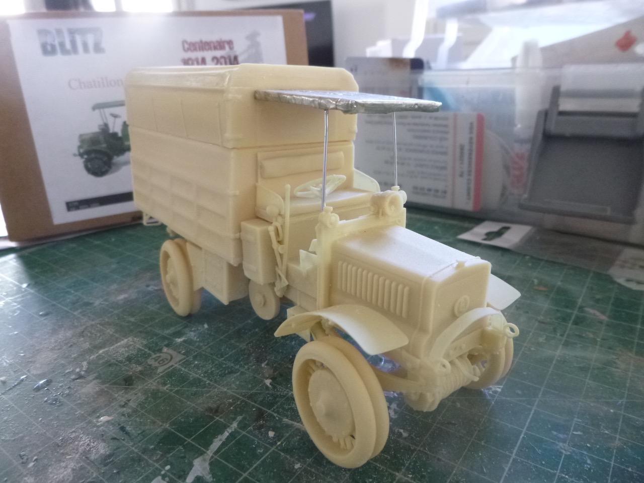 Camion Chatillon Panhard 1917 - résine de chez Blitz au 1/35 170327033025628272