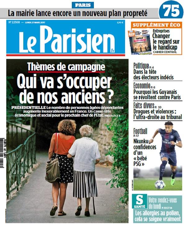 télécharger Le Parisien + Journal De Paris Du Lundi 27 Mars 2017