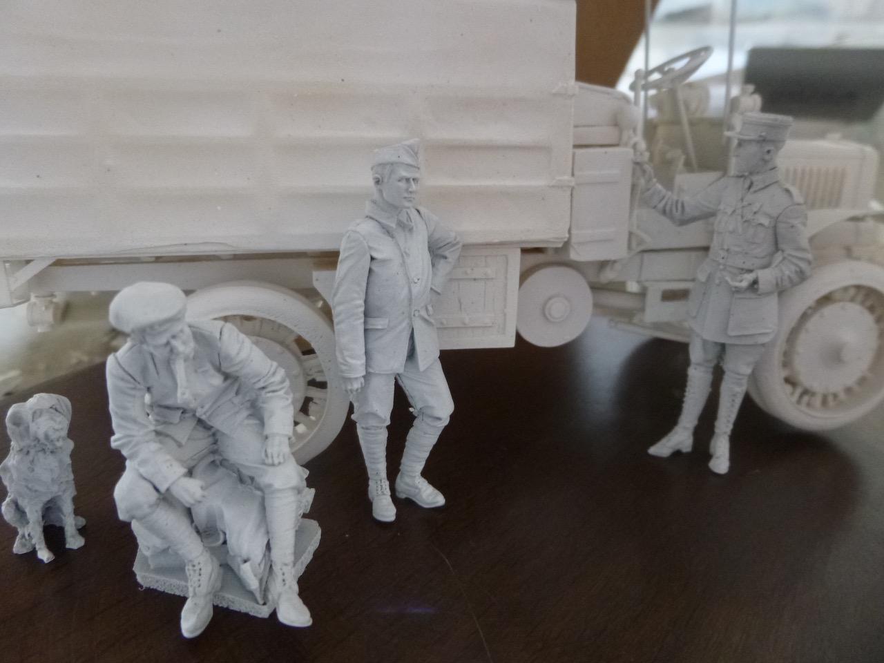 Camion Chatillon Panhard 1917 - résine de chez Blitz au 1/35 170328023020351245