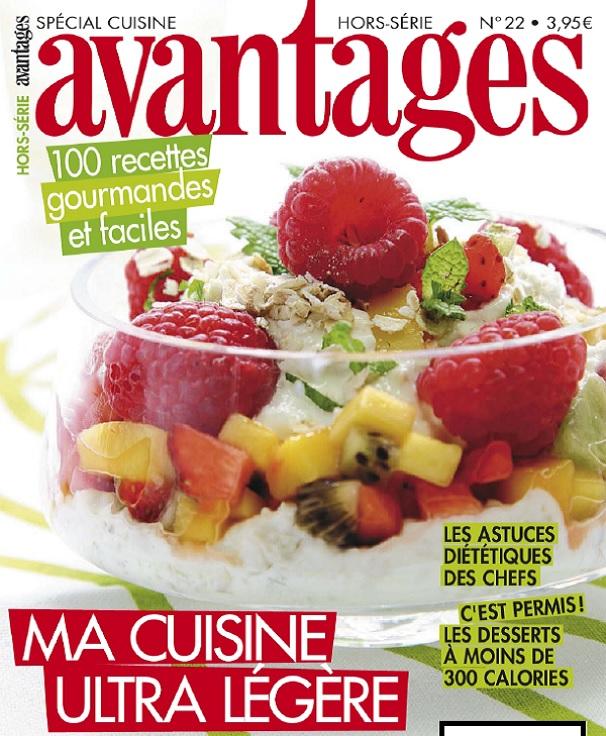 télécharger Avantages Hors Serie N°22 - Special Cuisine : Ma Cuisine Ultra Légère