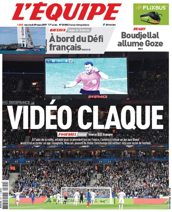 télécharger L'Equipe Du Mercredi 29 Mars 2017