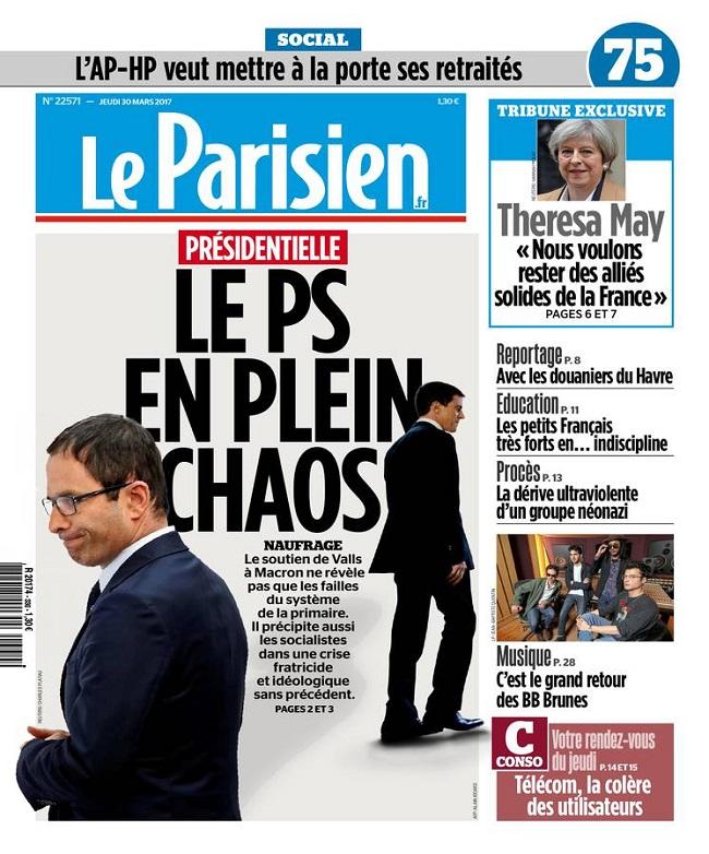 télécharger Le Parisien + Journal De Paris Du Jeudi 30 Mars 2017