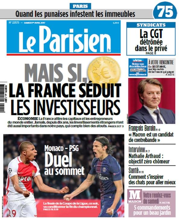télécharger Le Parisien + Journal De Paris Du Samedi 1er Avril 2017