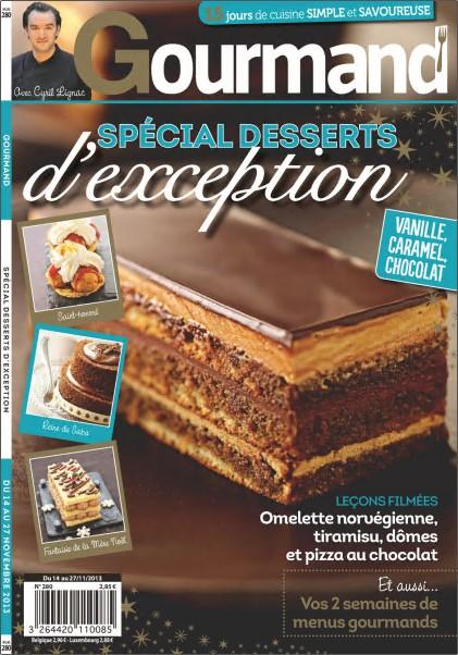 Gourmand N°280 - Spécial dessert d'exception
