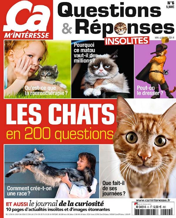télécharger Ça M'intéresse Questions et Réponses N°6 - Les Chats en 200 Questions