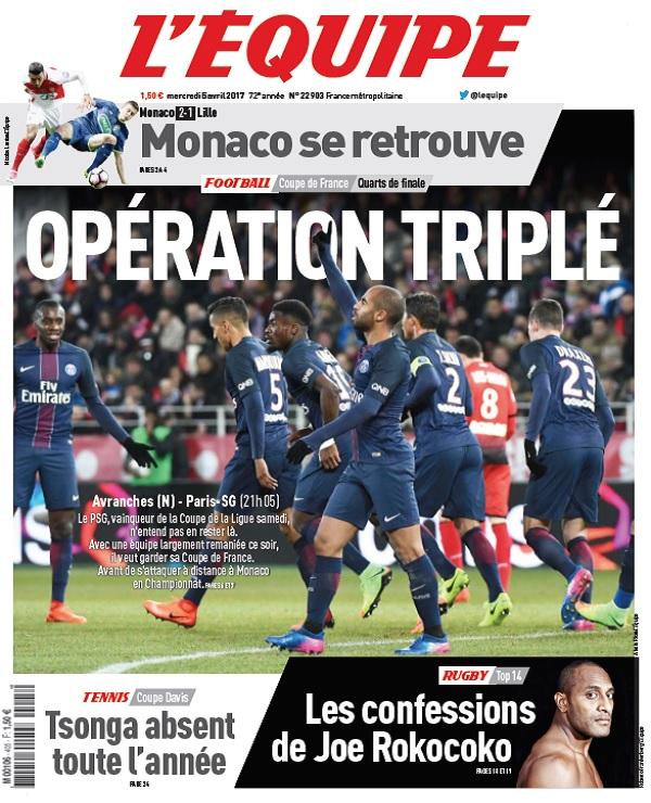 télécharger L'Equipe Du Mercredi 5 Avril 2017