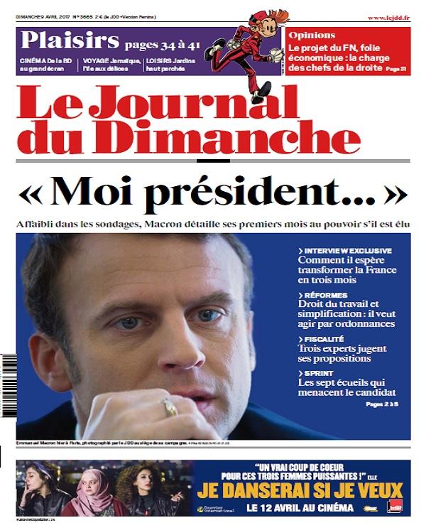 télécharger Le Journal Du Dimanche N°3665 Du 9 Avril 2017