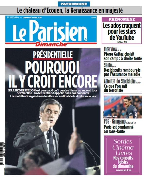 télécharger Le Parisien + Supplément Ile De France Du Dimanche 9 Avril 2017