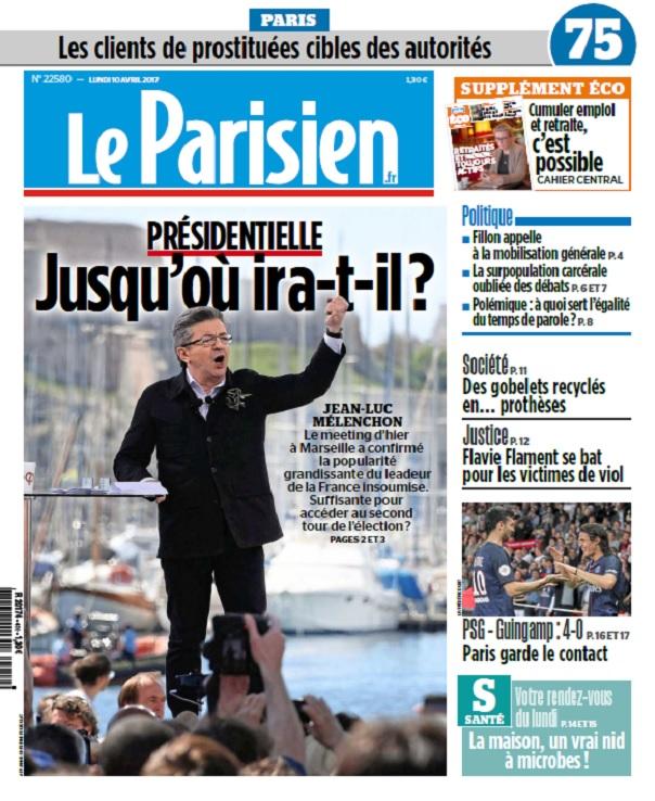 télécharger Le Parisien + Journal De Paris Du Lundi 10 Avril 2017