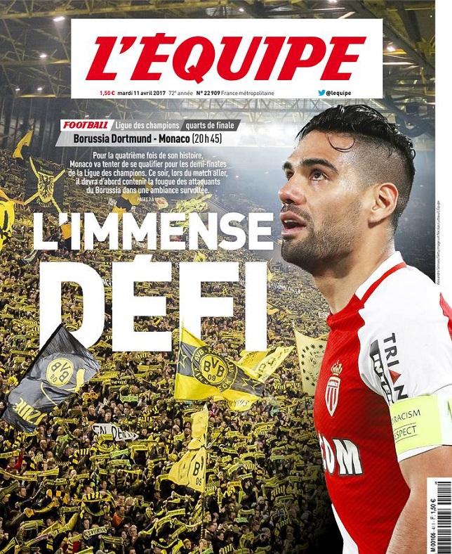 télécharger L'Equipe Du Mardi 11 Avril 2017